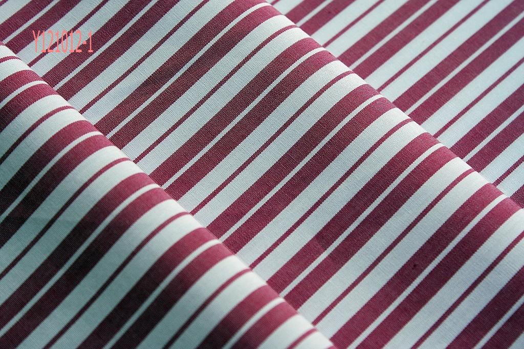 全棉衬衫面料,抗起毛起球条子布