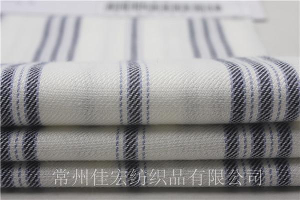 色织人棉条子布,人造棉条纹布厂家