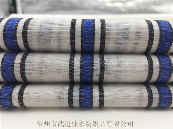 色织棉麻条纹布,梭织棉麻面料生产厂家