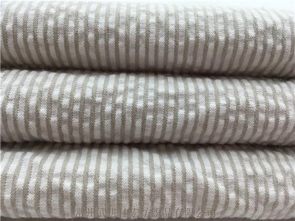 弹力泡泡布,色织棉弹泡泡纱面料 新款厂家定制