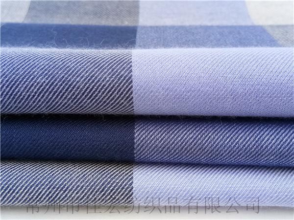 全人棉格子布,色织人造棉面料,厂家生产