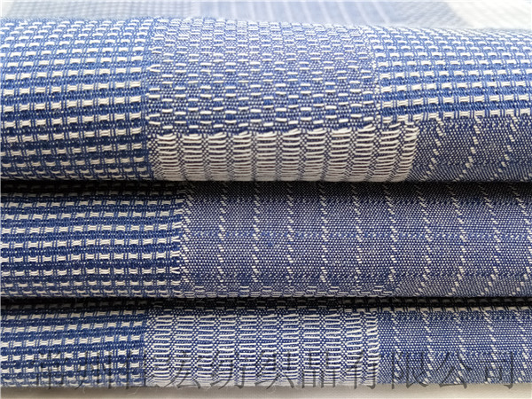 色织靛蓝大提花面料生产厂家