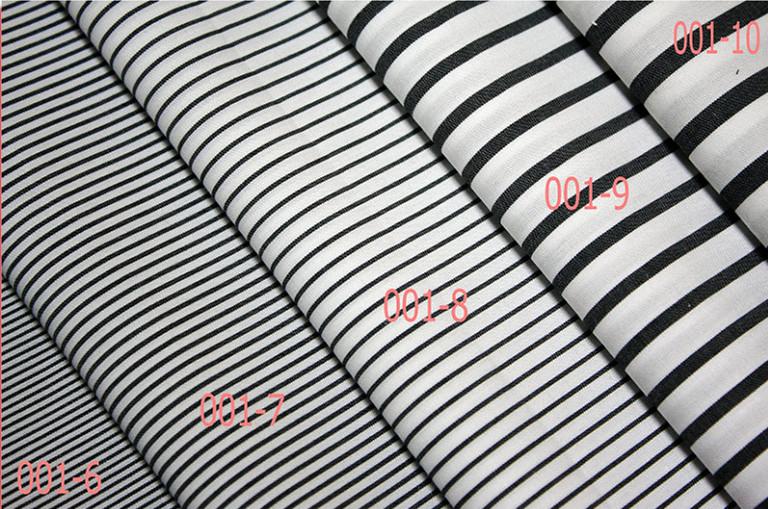 衬衫布,黑白条子布