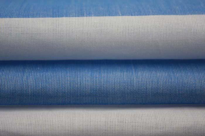 蓝色宽条布,横条布