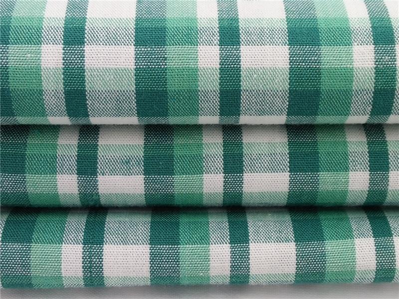 纯棉格子布,格子梭织布