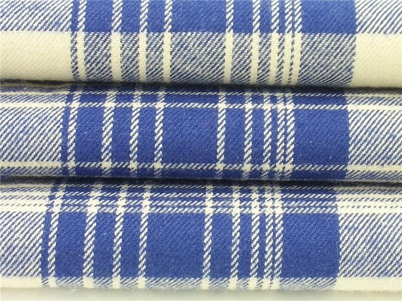 色织法兰绒,磨毛布