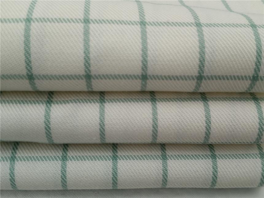 全棉防水格子布,防水整理面料