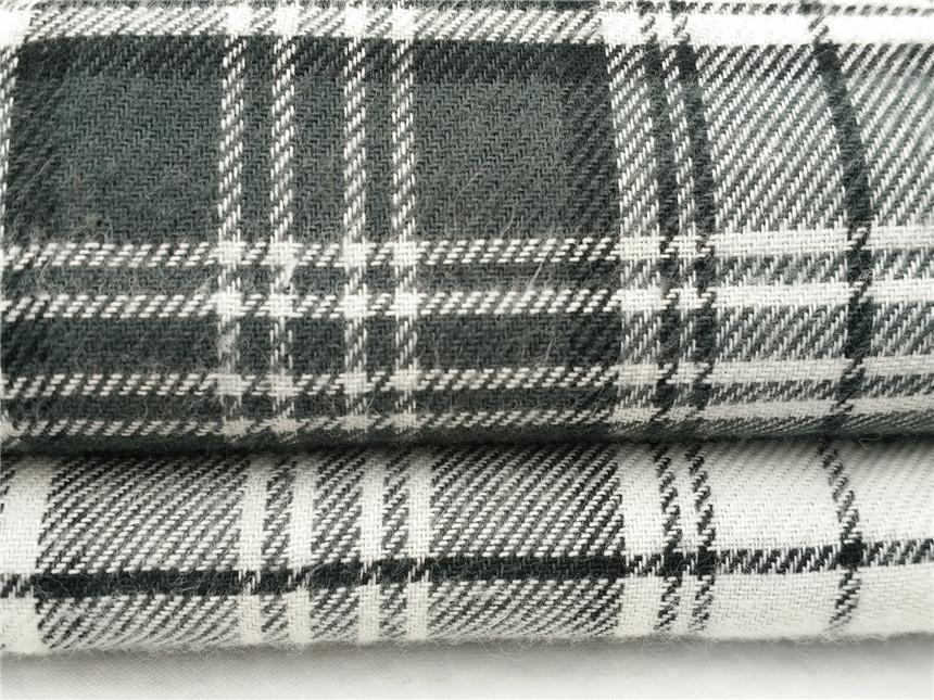 斜纹法兰绒,人棉色织布,空气洗面料