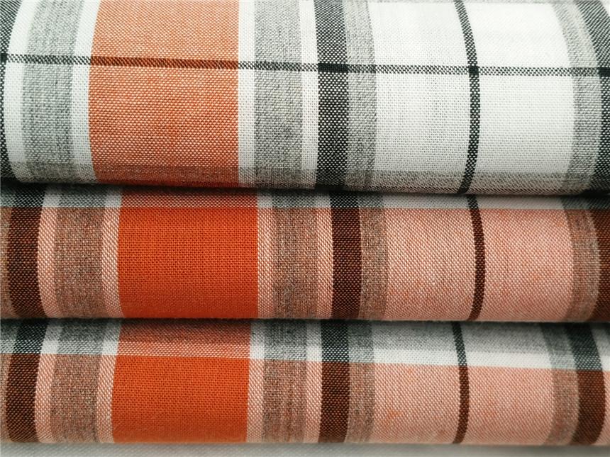 色纺格子布面料,色纺面料