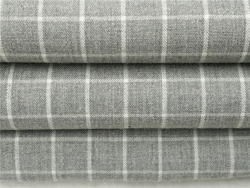色纺纱格子布生产,色纺衬衫面料厂家