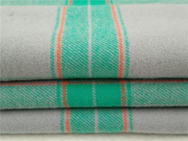 CVC法兰绒,棉涤磨毛布厂家