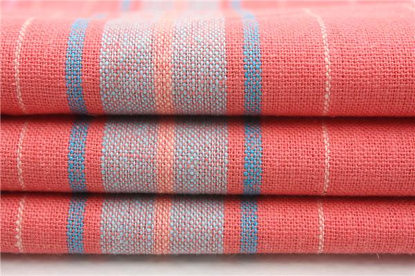 55L/45R麻粘条子布,麻粘色织面料定制厂家