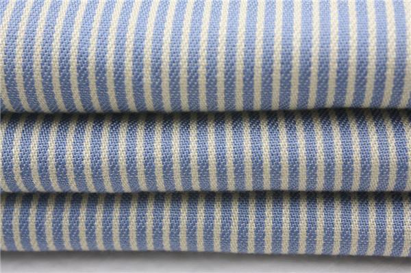 全天丝色织布,天丝棉条子布生产