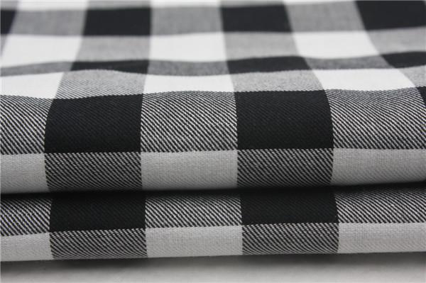 黑白格子布,60支全棉格子布,方格子布面料