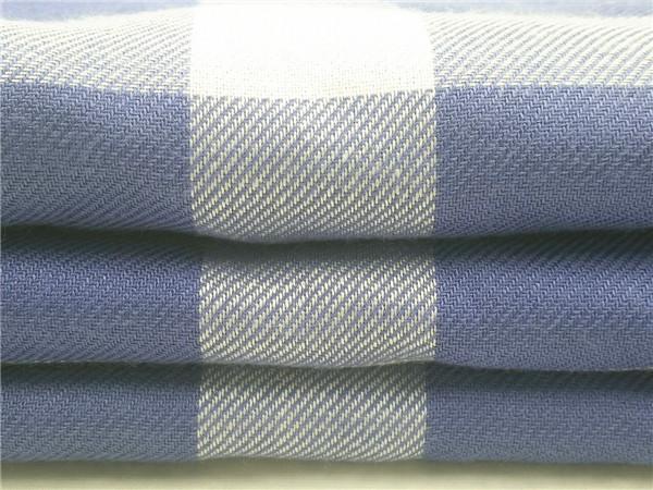 人棉格子布,全人棉斜纹格子布面料生产