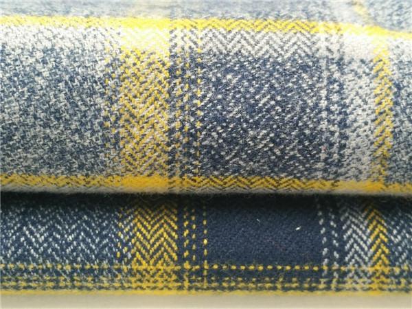 全棉花线格子布, 花线色织面料生产