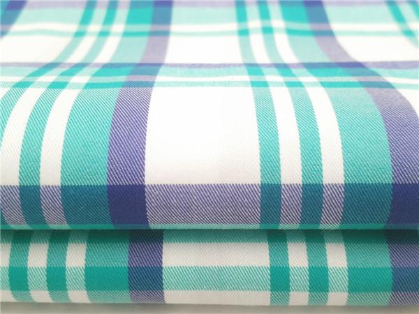 棉锦弹力布,70支色织弹力面料生产厂家