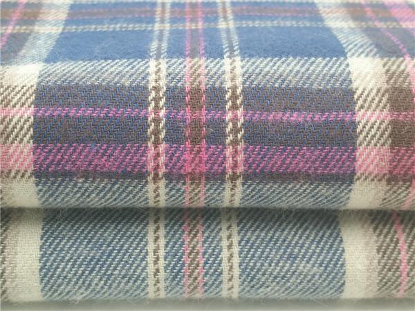 全棉法兰绒面料,色织绒布,磨毛面料生产