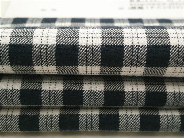 色织竹纤维绒布,全棉竹纤维法兰绒格子布生产