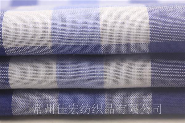 CVC45棉涤双层布,色织双层面料定制