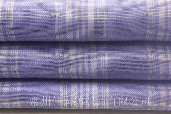 55/45CVC色织双层布,衬衫双层布面料厂家定制
