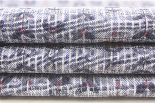新款印花双层布,色织全棉双层面料生产定制