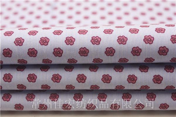 2016新款条纹印花布,色织全棉印花布定制