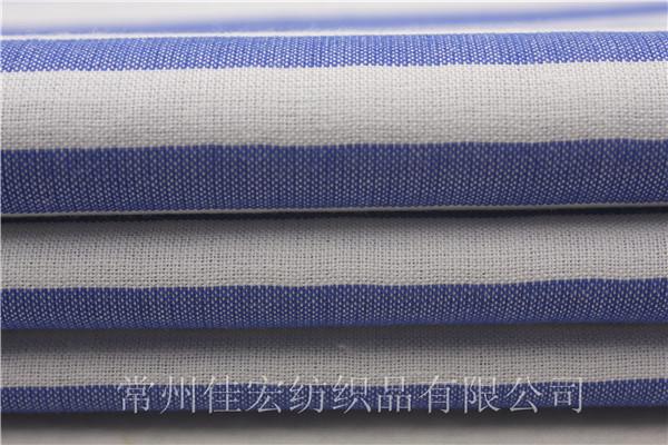 32*60/2色织条子布,双股线横条布面料