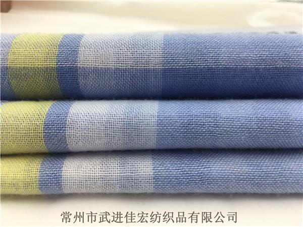 色织双层布,全棉格子双层布生产厂家