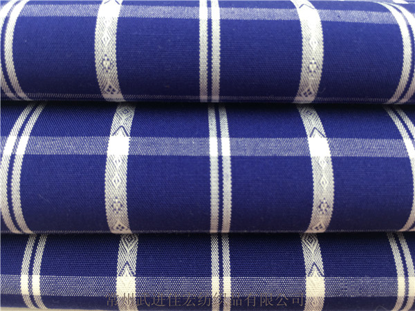 全棉格子布,宝蓝色色织格子布 厂家定制