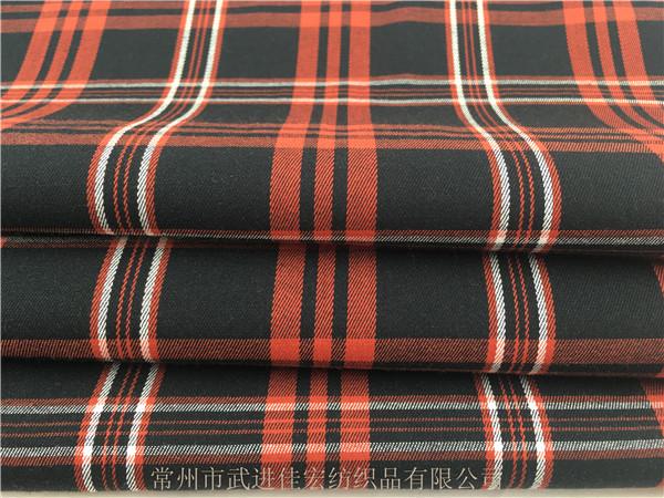 128g棉弹格子布,色织弹力面料,厂家定制