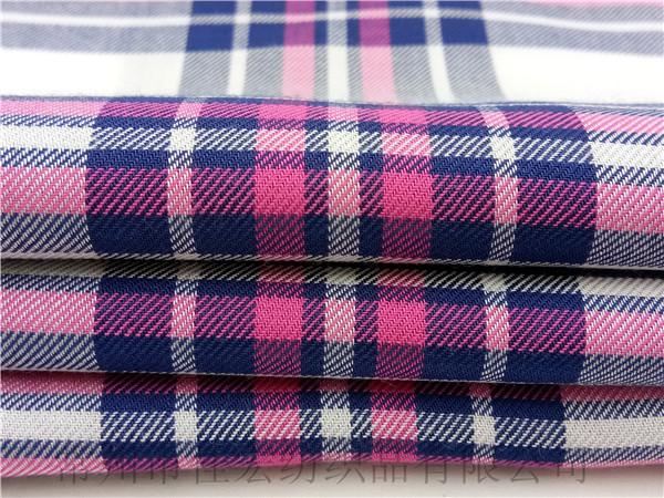 人棉色织面料,40支色织人造棉面料定制