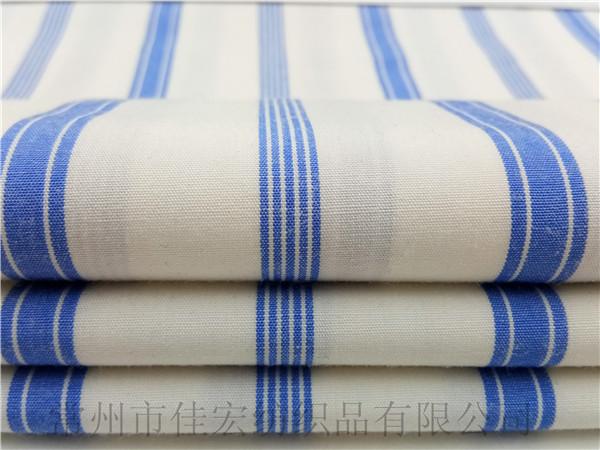 40TR色织条子布,色织衬衫条子面料定制