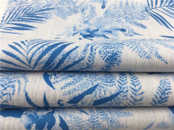 梭织青年印花布,色纺印花面料生产