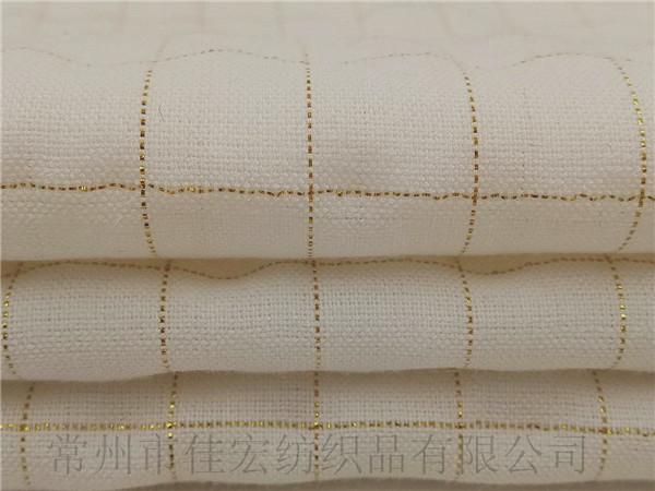 金丝棉人棉格子布生产定制