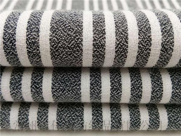 人造棉条子布,黑白条子布定制