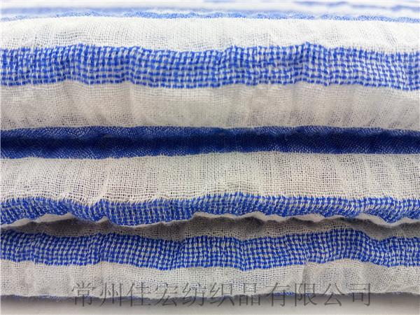 全棉弹力泡泡布,色织弹力皱皱布定制
