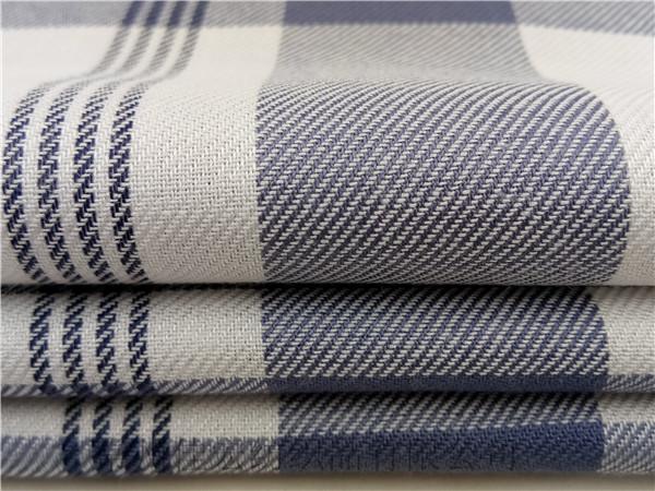 30支人棉色织布生产定制