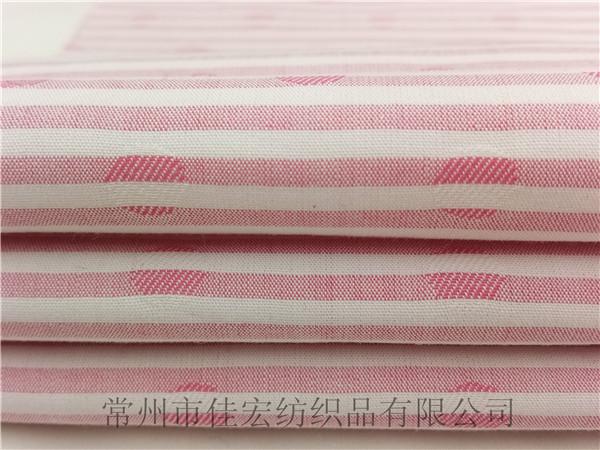 色织全棉条子圆点大提花面料