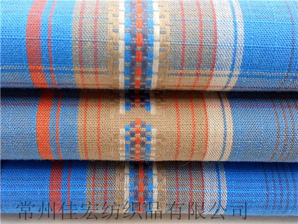 色织提花格子布面料生产定制
