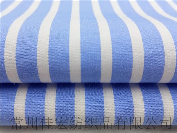 100长绒棉色织条子布生产定制厂家