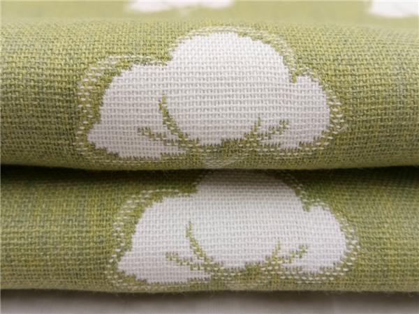色织双层大提花,大棉花花型提花面料生产