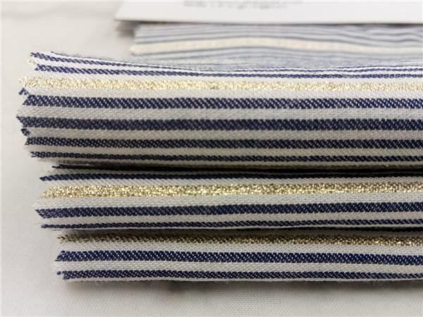 人造棉色织布 金丝人棉条子布
