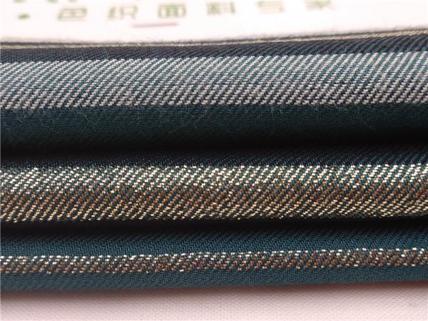 金丝人棉条纹布,40支人造棉条子布